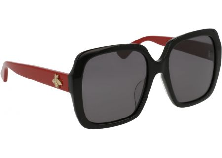 Gucci Oversized Rectangle Acetate Womens Sunglasses - GG0096S-003 54