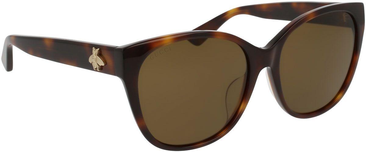 ad3a060f82 Gucci Cat Eye Havana Brown Acetate Womens Sunglasses - GG0097SA-002 58