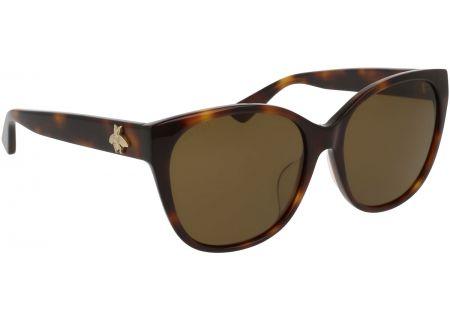 Gucci Cat Eye Havana Brown Acetate Womens Sunglasses - GG0097SA-002 58