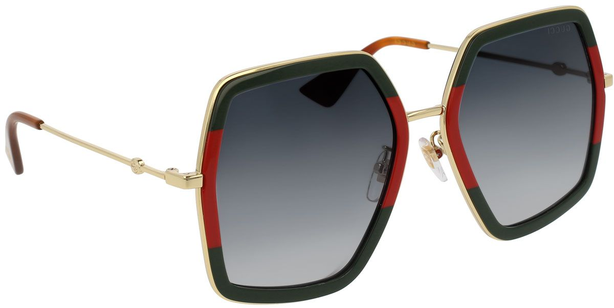 28477b8b0d4 Gucci Oversized Square Acetate Womens Sunglasses - GG0106S-007-56