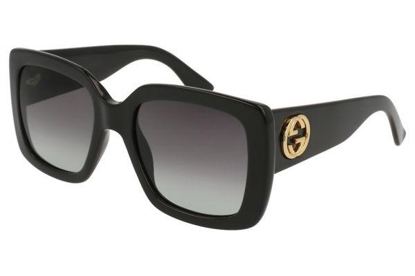 Gucci Black Oversized Square Frame Womens Sunglasses - GG0141S001