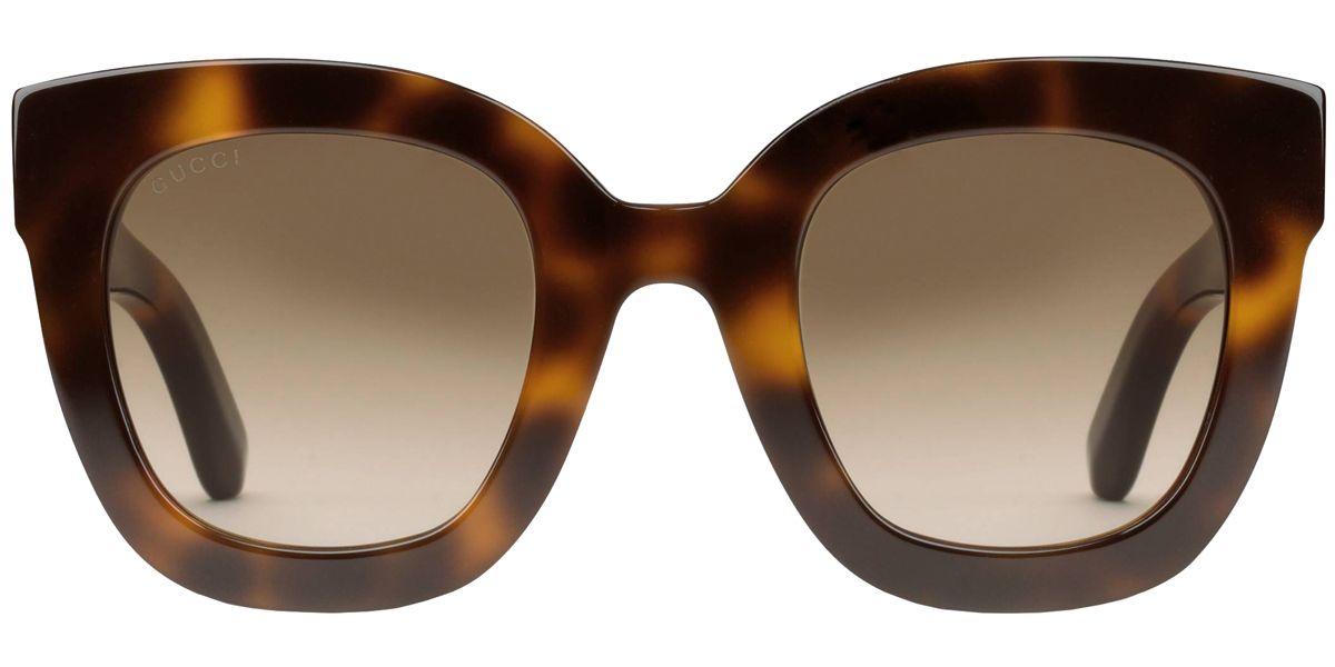 a01addf9717 Gucci Star Tortoiseshell Round Womens Sunglasses - GG0208S 003 49