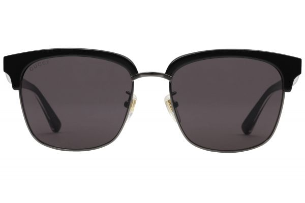 Gucci Rectangular Frame Black Mens Sunglasses - GG0382S-001