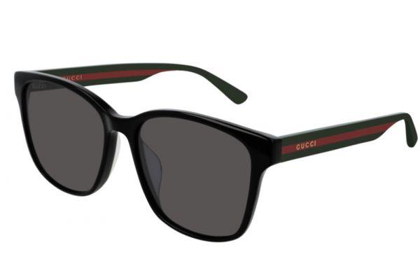 Large image of Gucci Black Soft Square Frame Unisex Sunglasses - GG0417SK-001
