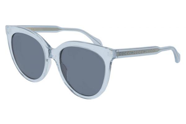 Large image of Gucci Light Blue Cat Eye Frame Womens Sunglasses - GG0565S-003