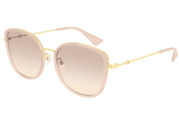 Large image of Gucci Nude Cat Eye Frame Womens Sunglasses - GG0606SK-004