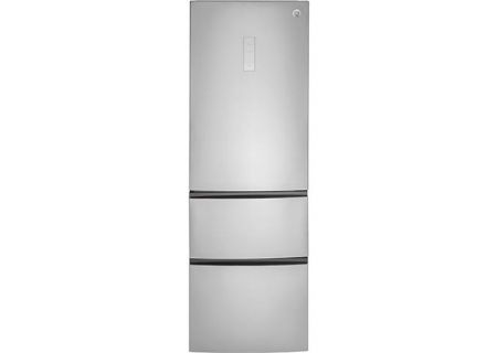 GE 11.9 Cu. Ft. Stainless Steel Bottom-Freezer Refrigerator - GLE12HSLSS