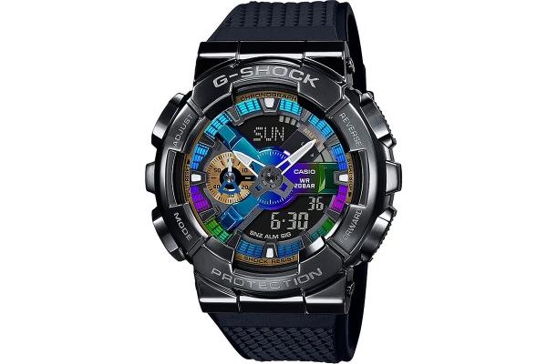 Large image of G-Shock Analog-Digital Resin Black & Multi-Colored Mens Watch - GM110B-1A