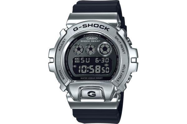 Large image of G-Shock Stainless Steel & Black Mens Digital Watch - GM6900-1