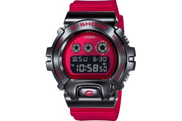 Large image of G-Shock Black Stainless Steel & Red Mens Digital Watch - GM6900B-4