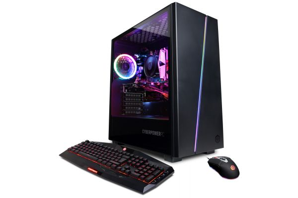 CyberPowerPC Gamer Master Black Gaming Desktop AMD Ryzen 7 2700X 16GB RAM 2TB SATA + 240GB SSD, NVIDIA GeForce RTX 2060 - GMA8200CPG
