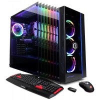 CyberPowerPC Gamer Master Black Gaming Desktop AMD Ryzen 3 2300X 8GB RAM 1TB SATA + 120GB SSD, AMD Radeon R7 240
