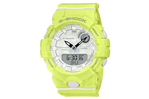 Large image of G-Shock S Series Analog-Digital Bright Yellow Womens Watch - GMAB800-9A