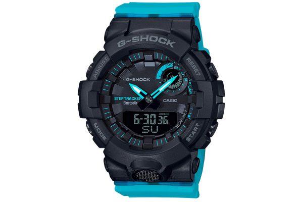 Large image of G-Shock Resin Black Womens Analog-Digital Watch - GMAB800SC-1A2