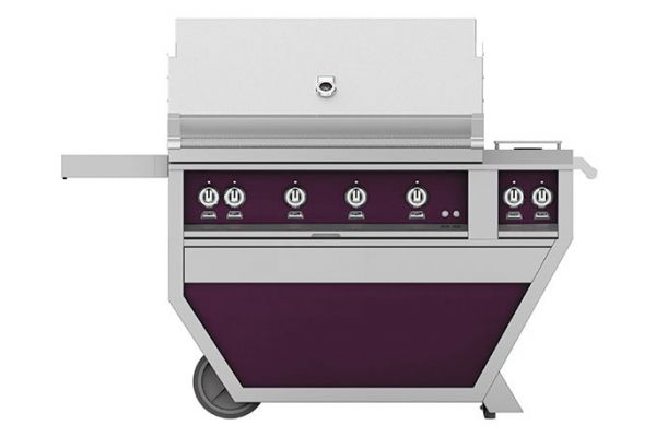 "Large image of Hestan 42"" Lush Deluxe Trellis And Sear With Double Side Burner Liquid Propane Gas Grill - GMBR42CX2-LP-PP"