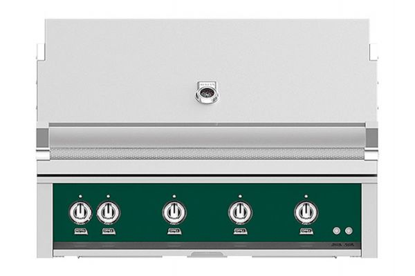 """Large image of Hestan 42"""" Grove Built-In Sear And Trellis Burner Rotisserie Natural Gas Grill - GMBR42-NG-GR"""