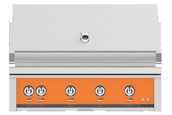 """Large image of Hestan 42"""" Citra Built-In Sear And Trellis Burners Rotisserie Natural Gas Grill - GMBR42-NG-OR"""