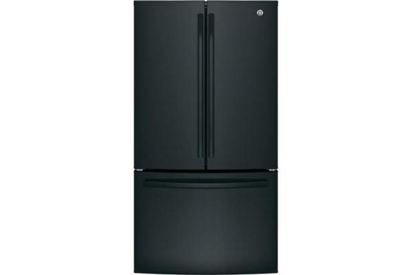 Large image of GE ENERGY STAR 27 Cu. Ft. Black French-Door Refrigerator - GNE27JGMBB