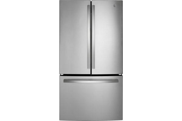 Large image of GE ENERGY STAR 27 Cu. Ft. Fingerprint Resistant Stainless Steel French-Door Refrigerator - GNE27JYMFS