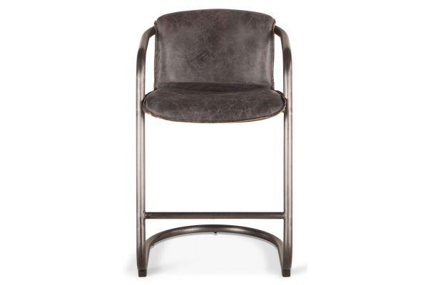 Large image of Home Trends & Design Portofino Antique Ebony Counter Chair - GPF-CC22AE
