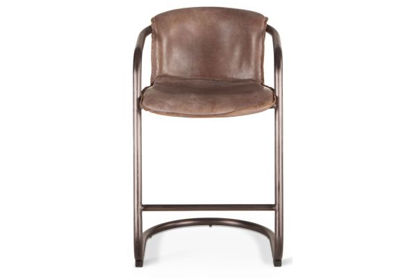 Large image of Home Trends & Design Portofino Jet Brown Counter Chair - GPF-CC22JB