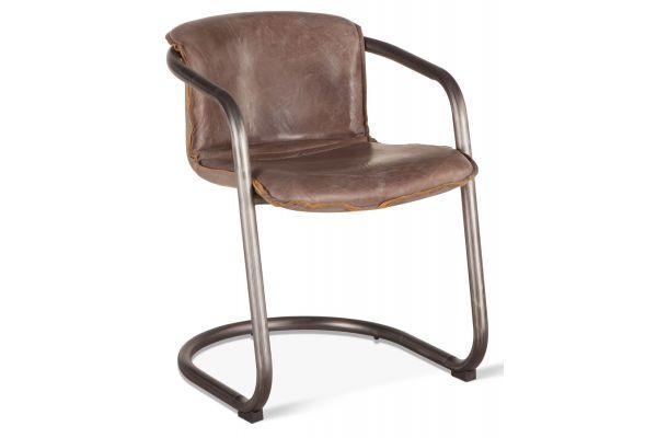 Home Trends & Design Portofino Jet Brown Leather Dining Chair - GPF-DC22JB