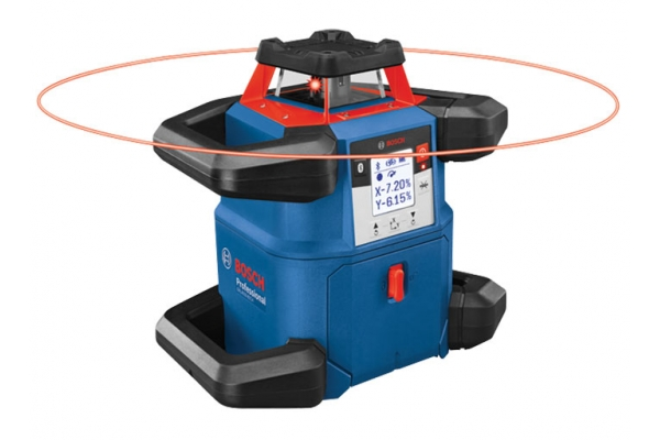 Large image of Bosch Tools 18V REVOLVE4000 Connected Self-Leveling Horizontal Rotary Laser - GRL4000-80CH