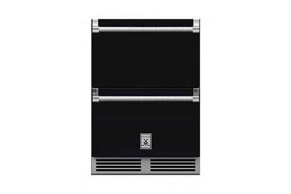 "Large image of Hestan 24"" Stealth Undercounter Refrigerator Drawers - GRR24-BK"