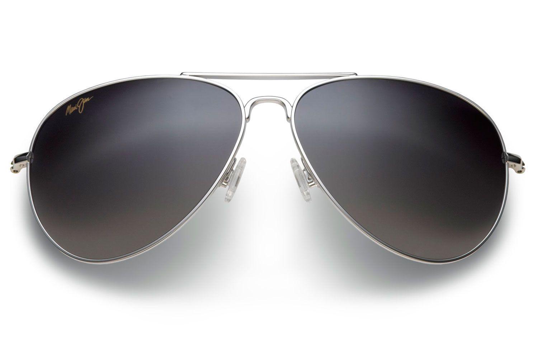 35ead6928226e Maui Jim Mavericks Titanium Aviator Unisex Sunglasses - GS264-17