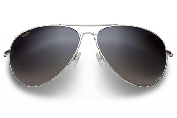 Large image of Maui Jim Mavericks Titanium Aviator Unisex Sunglasses - GS264-17
