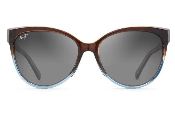 Large image of Maui Jim 'Olu 'Olu Translucent Dark Chocolate With Blue Polarized Womens Sunglasses - GS537-01F