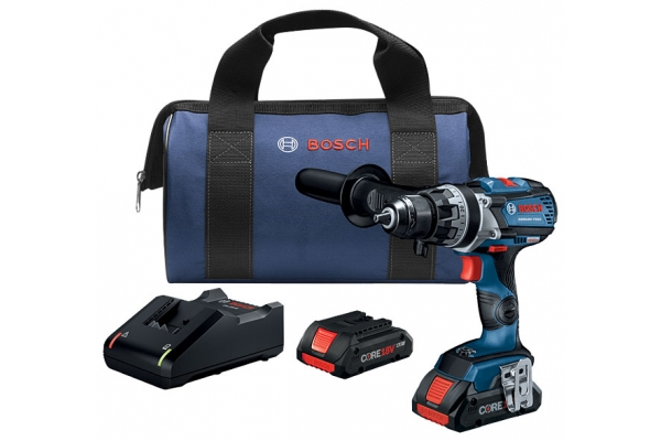 """Large image of Bosch Tools 18V EC Brushless Connected-Ready Brute Tough 1/2"""" Drill/Driver With 2 CORE18V 4.0 Ah Compact Batteries - GSR18V-755CB25"""