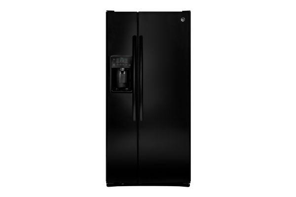 Large image of GE 23.2 Cu. Ft. Black Side-By-Side Refrigerator - GSS23GGKBB