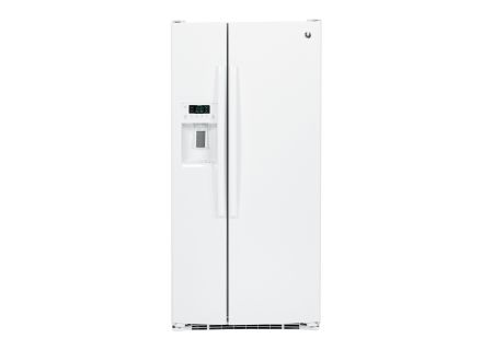 GE White 23.2 Cu. Ft. Side-By-Side Refrigerator - GSS23GGKWW