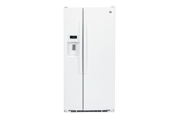 Large image of GE White 23.2 Cu. Ft. Side-By-Side Refrigerator - GSS23GGKWW