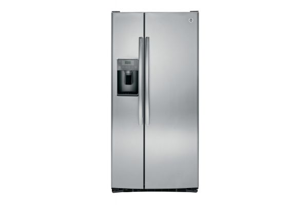 Large image of GE 23.2 Cu. Ft. Stainless Steel Side-By-Side Refrigerator - GSS23GSKSS