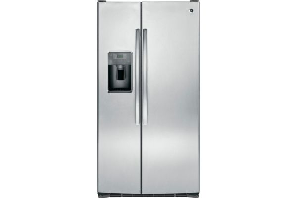Large image of GE 25.3 Cu. Ft. Stainless Steel Side-By-Side Refrigerator - GSS25GSHSS
