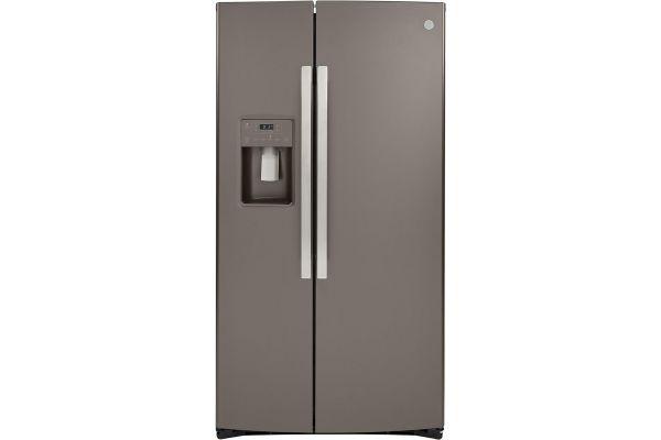 GE Slate Side-By-Side Refrigerator - GSS25IMNES