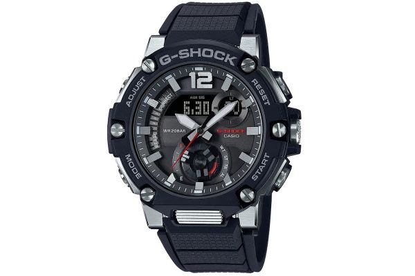 Large image of G-Shock G-Steel Carbon Core Guard Black Mens Watch - GSTB300-1A