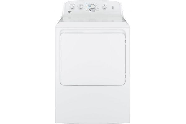 Large image of GE 7.2 Cu Ft Front Loading White Gas Dryer - GTD42GASJWW