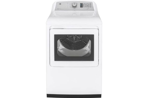 GE 7.4 Cu. Ft. White Front Loading High Efficiency Gas Dryer - GTD75GCSLWS