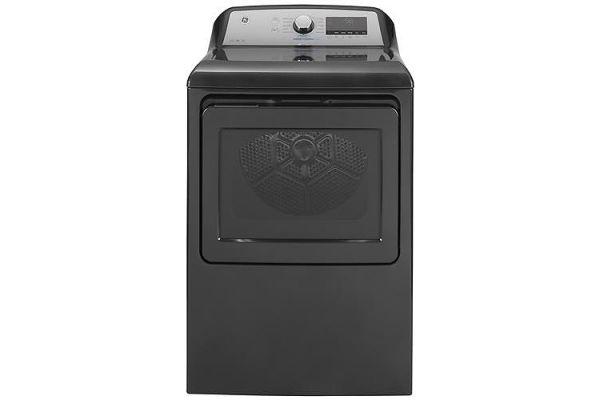 Large image of GE 7.4 Cu. Ft. Diamond Gray Steam Electric Dryer - GTD84ECPNDG