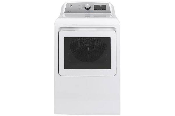 Large image of GE 7.4 Cu. Ft. White Steam Electric Dryer - GTD84ECSNWS