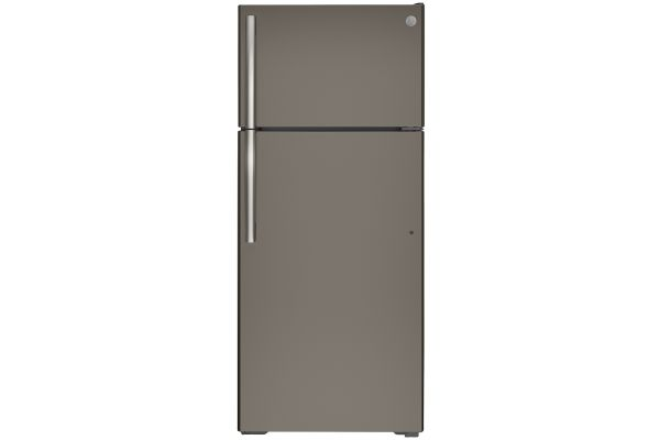 Large image of GE ENERGY STAR 17.5 Cu. Ft. Slate Top-Freezer Refrigerator - GTE18GMNRES