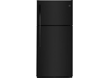 GE Black 18.2 Cu. Ft. Top-Freezer Refrigerator - GTS18FGLBB