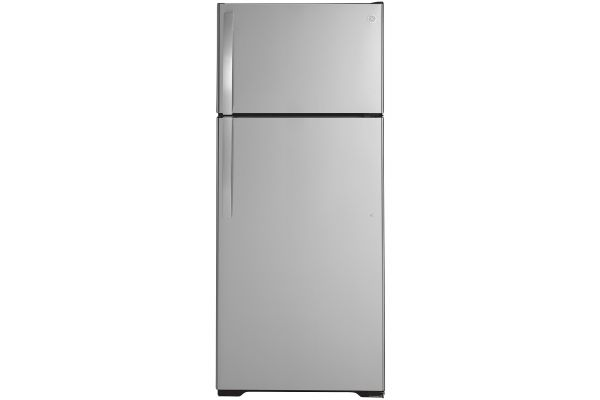 Large image of GE 17.5 Cu. Ft. Stainless Steel Top-Freezer Refrigerator - GTS18HSNRSS