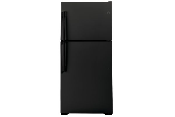 Large image of GE 19.2 Cu. Ft. Black Top-Freezer Refrigerator - GTS19KGNRBB