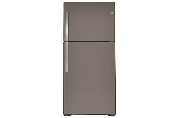 Large image of GE 19.2 Cu. Ft. Slate Top-Freezer Refrigerator - GTS19KMNRES