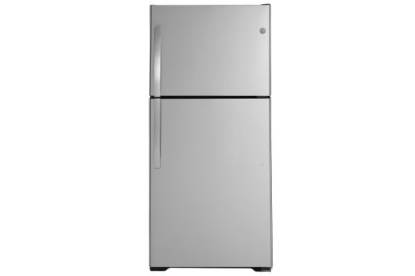 Large image of GE 19.2 Cu. Ft. Stainless Steel Top-Freezer Refrigerator - GTS19KSNRSS