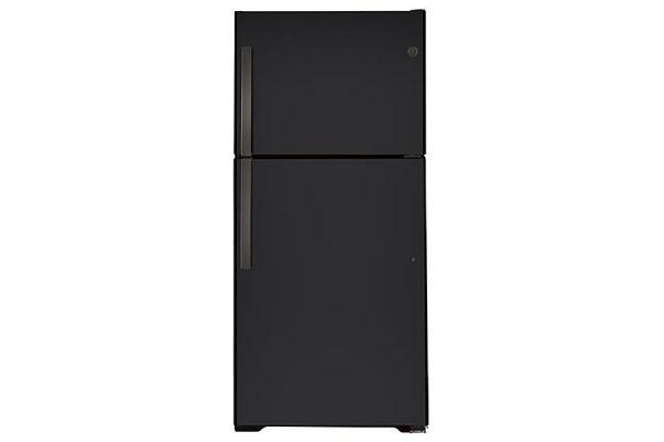 Large image of GE 21.9 Cu. Ft. Black Slate Top-Freezer Refrigerator - GTS22KMNRDS
